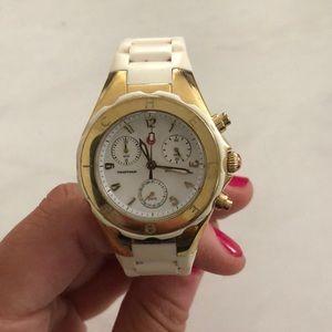 Michelle white rubber watch
